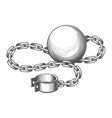 ball and chain engraving vector image vector image