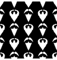 Beard Silhouette Seamless Pattern vector image vector image