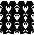 Beard Silhouette Seamless Pattern vector image