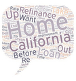 Before And After Your California Refinance text vector image vector image