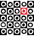 Black white and color mosaic background vector image vector image