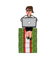 business woman siting vector image