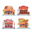 Cafe restaurant ice-cream shop and bakery vector image