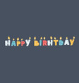 candles happy birthday vector image vector image