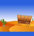 carriage on the desert vector image