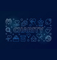charity blue horizontal - line vector image vector image