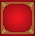 chinese seamless pattern with frame and shadow vector image vector image