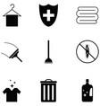 clean icon set vector image vector image