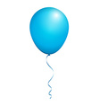 Color Glossy Blue Balloon isolated on White in vector image vector image