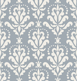 Damask beautiful blue background vector image vector image