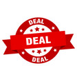 deal round ribbon isolated label deal sign vector image vector image