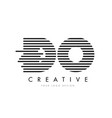 do d o zebra letter logo design with black and vector image