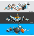 E-learning Isometric Banners vector image vector image