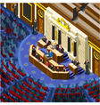 Election Infographic Parliament Hall Isometric vector image vector image