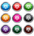 error sign on a computer monitor set 9 collection vector image vector image