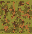fashion camo classic woodland colors camouflage vector image