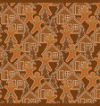 gingerbread cookies seamless pattern vector image