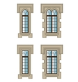 Gothic windows set vector image vector image