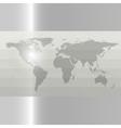 Gray Political World Map vector image