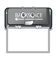 grinning with board button backspace isolated in vector image vector image