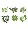 Happy Patricks day logos set in style of grunge vector image
