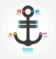 infographics anchor design concept diagram line vector image vector image