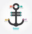 infographics anchor design concept diagram line vector image