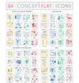 infographics concept icons startup development vector image vector image