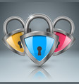 key lock icon business infographic vector image vector image