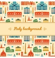 Landmarks of Italy background with space for text vector image vector image