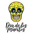 lettering dia de los muertos for postcard vector image