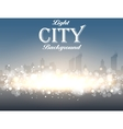Light City Background vector image