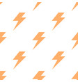 lightning bolt flash seamless pattern thunderbolt vector image vector image