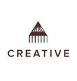 logo design letter a pencil triangle logo vector image vector image