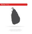 map sri lanka isolated black vector image vector image