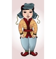 mongol cute boy in a national costume vector image
