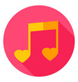 music circle icon vector image vector image
