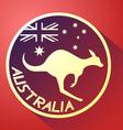 nice australia icon vector image vector image