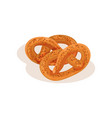 pretzel bakery pastry fresh tasty product vector image vector image