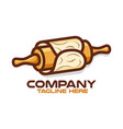 rolling pin for pastry and baking logo vector image