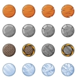 Round Blocks For Physics Game 1 vector image vector image