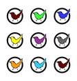 set check mark icons multicolor vector image