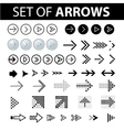 Set of arrows text vector image vector image