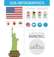 Set of flat design icons and infographics vector image vector image
