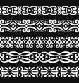 set white seamless borders vector image