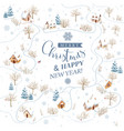 snowy winter landscape for christmas cards vector image