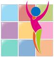 Sport icon for gymnastics floor exercise vector image vector image