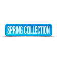 Spring collection blue 3d realistic square vector image vector image