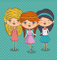 stylish teenager girls vector image