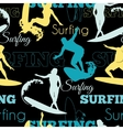 Surfing People California Blue Yellow Black vector image
